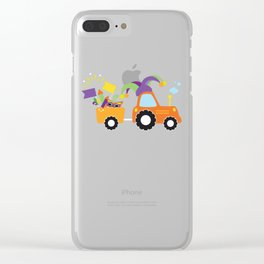 Tractor Jester Hat Mardi Gras Fleur De Lis Masks Clear iPhone Case