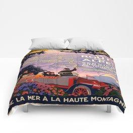 Vintage poster - Route des Alpes, France Comforters