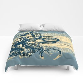 Dirt Track - Motocross Racing Comforters