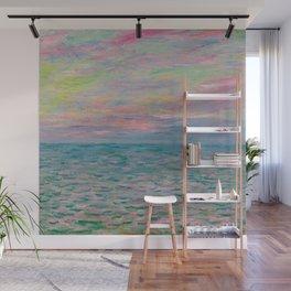 """Claude Monet """"Coucher de soleil à Pourville, pleine mer"""" Wall Mural"""