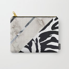 Zebra,marble texture design Carry-All Pouch