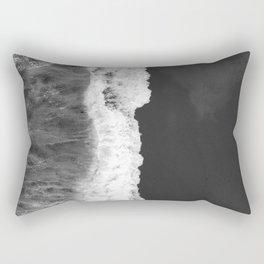 The Sea (Black and White) Rectangular Pillow