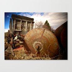Old Mill Farm Equipment Canvas Print