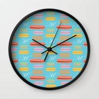 macaron Wall Clocks featuring Macaron by Ashley C. Kochiss