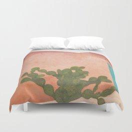 Strong Desert Cactus Duvet Cover