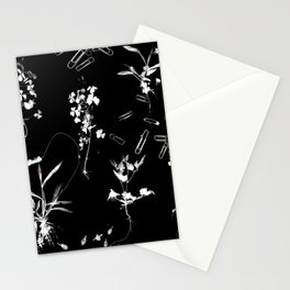 Plants & Paper clips Photogram Stationery Cards