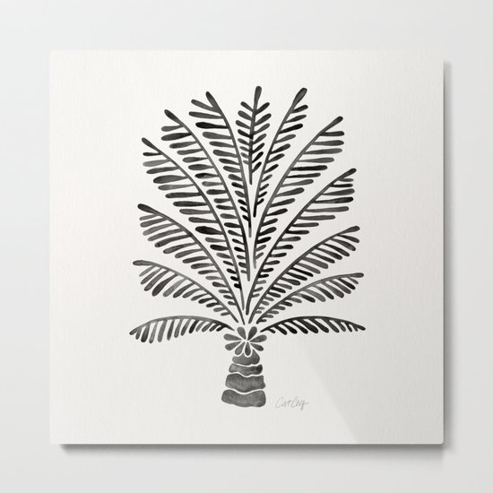 Palm Tree – Black Metal Print