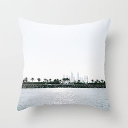 Dubai skyline on a sunny day | Travel photography art print photo Throw Pillow