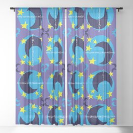 Love You to the Moon and Back Sheer Curtain