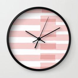 Big Stripes in Pink Wall Clock