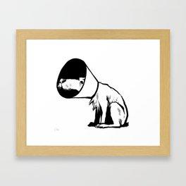 Cone of shame Framed Art Print