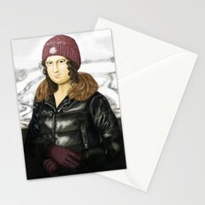 Mona Lisa in winter Stationery Cards