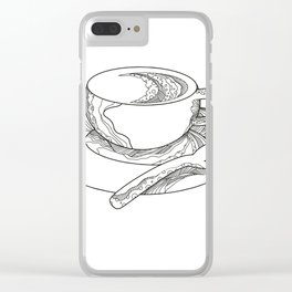 Cup of Coffee Doodle Clear iPhone Case
