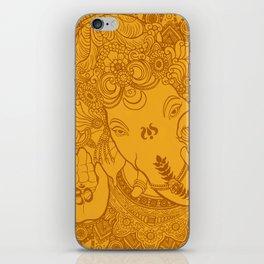 Ganesha Lineart Yellow iPhone Skin