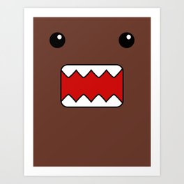 Domo Kun - Brown Japanese Monster Art Print
