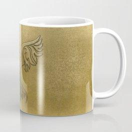Phoenix Bird Gold Embossed Coffee Mug