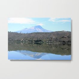 Mount Imbabura Reflected in Lake Yaraucocha Metal Print