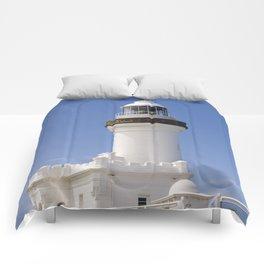 Byron Bay Lighthouse blue Sky Comforters