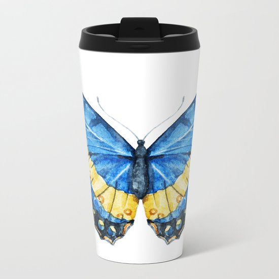 Butterfly 08 Metal Travel Mug