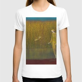 Dragonfly in Fields of Gold - Magical Realism T-shirt