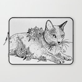 Cat and acacias Laptop Sleeve