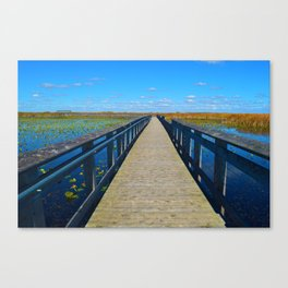 Point Pelee National Park Boardwalk in Leamington ON Canada Canvas Print