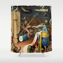The Garden of Earthly Delights Bosch Hell Bird Man Shower Curtain