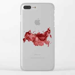 Russia in Red Clear iPhone Case