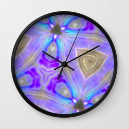 Ultra Violet Sacred Geometry Wall Clock