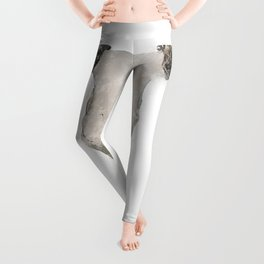 Bull Skull Waterpainting Leggings