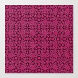 Pink Yarrow Geometric Canvas Print