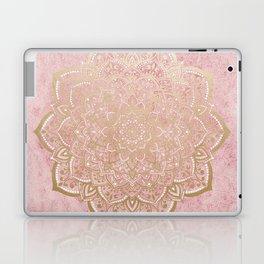 MOON DANCE MANDALA IN GOLD AND PINK Laptop & iPad Skin