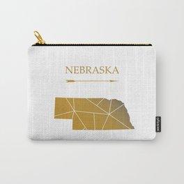 Nebraska In Gold Carry-All Pouch