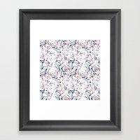 Splat Red White and Blue 2 Framed Art Print