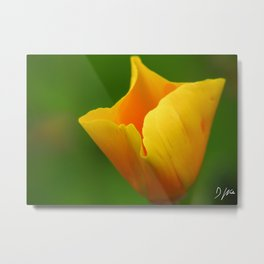 Glowing Yellow Metal Print