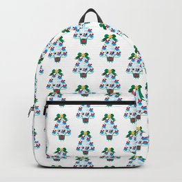 Happy New Year Christmas tree Backpack
