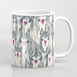 unicorn love indigo pink pearl Coffee Mug