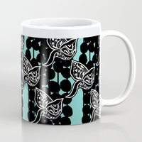 asia Mugs featuring Hedgerow Asia by Aprille Broomhead