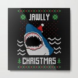 Jawlly Christmas Ugly Christmas Sweater Metal Print