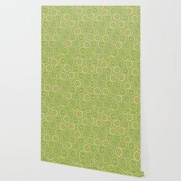 Lime Oranges Pattern Wallpaper