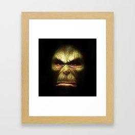 Orc face Framed Art Print