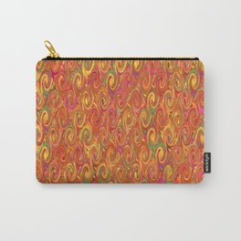 Citrus Swirls Abstract Carry-All Pouch