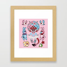 Eye Am Kawaii Krampus Framed Art Print