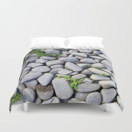 Sea Stones - Gray Rocks, Texture, Pattern Duvet Cover