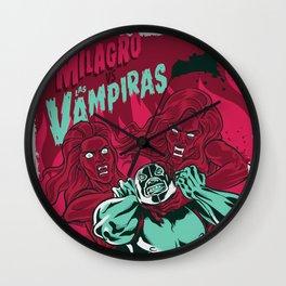 El Milagro VS Las Vampiras Wall Clock