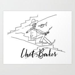 Chet - Great Jazz Musician Art Print
