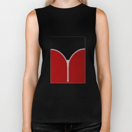 Red Zipper Biker Tank
