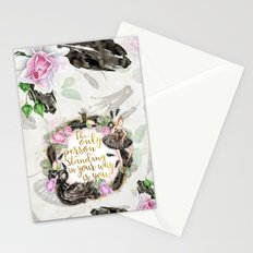 Black Swan - The Only Person Standing in Your Way Stationery Cards