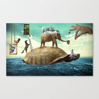 dali Canvas Prints featuring Dali  by Veronika
