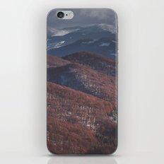 Maroon waves iPhone & iPod Skin